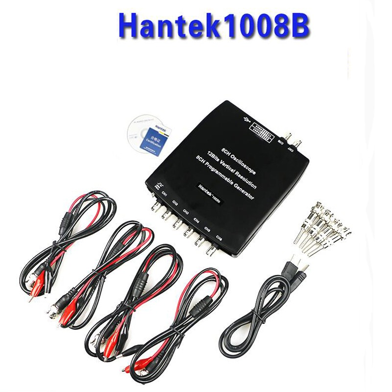 Hantek 1008B 8 Channel PC USB Auto Scope/DAQ/8CH Generator Channels Automotive input sensitivity  Diagnostic Oscilloscope pc 8ch automotive diagnostic oscilloscope daq programmable generator 1008b