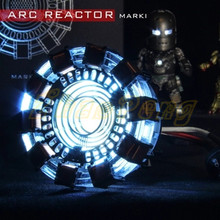 Avengers iron man 1/1 scale arc reactor Iron Man DIY metal model toys action figure parts USB LED glowing Iron-Man reactor toy