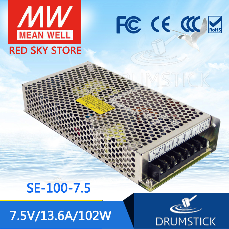 Advantages MEAN WELL SE-100-7.5 7.5V 13.6A meanwell SE-100 7.5V 102W Single Output Switching Power Supply best selling mean well se 200 15 15v 14a meanwell se 200 15v 210w single output switching power supply