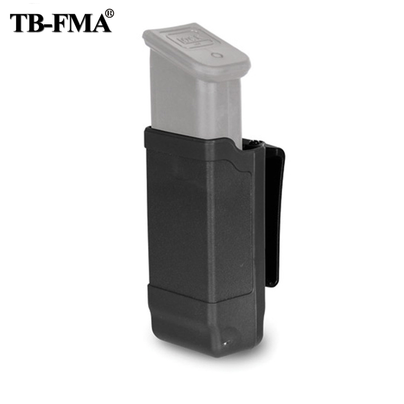 TB-FMA New CQC Single Double Stack 9/40 Magazine Case 1911 Magazine Pouch Black for Glock 9mm & 1911 Tactics Caliber Magazine image
