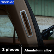 CNORICARC 2 шт. алюминиевого сплава в колонке Air выпускная рама декоративная крышка Накладка для Porsche Panamera 2009-15 салона автомобиля литья