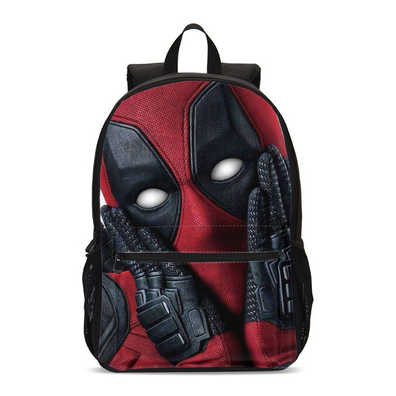 Backpacks For Boys Fashion Cool Marvel 3D Printing Bookbag Teenager Kids Deadpool 2 School Bag Casual