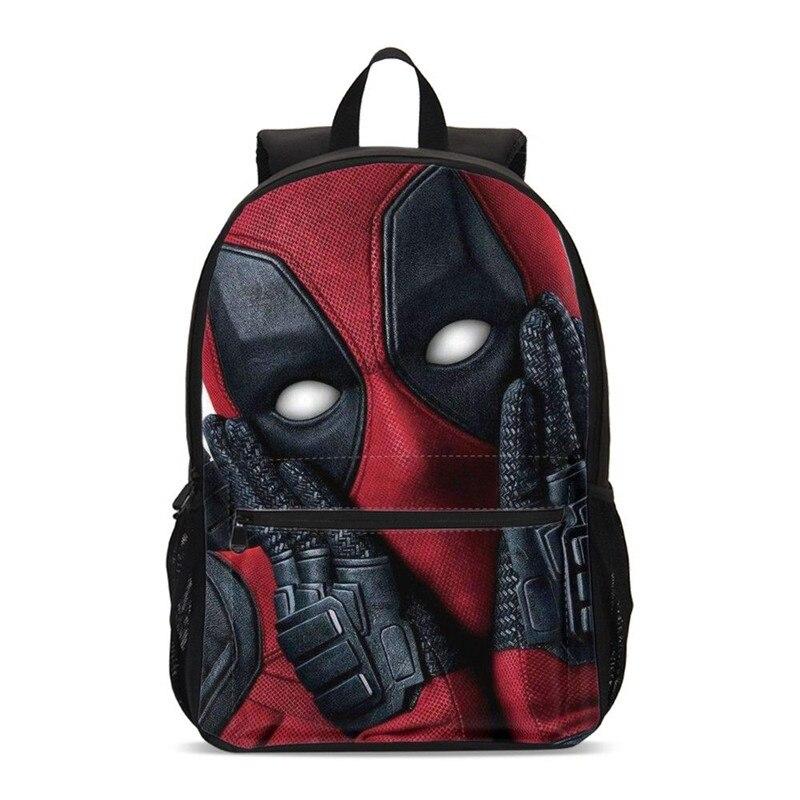 e0dc65efb4 VEEVANV New Fashion Marvel 3D Printed Deadpool 2 Backpack Teenager Manga  Style Student Bag A Wonderful