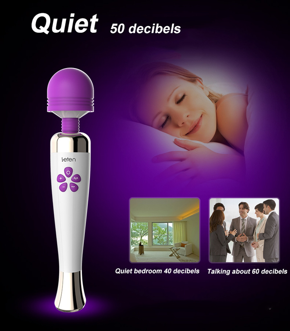 leten Rechargeable Powerful AV Magic Wand Vibrator Massager Silicone G Spot Vibrators For Woman Adult Erotic Toys Sex Products 17