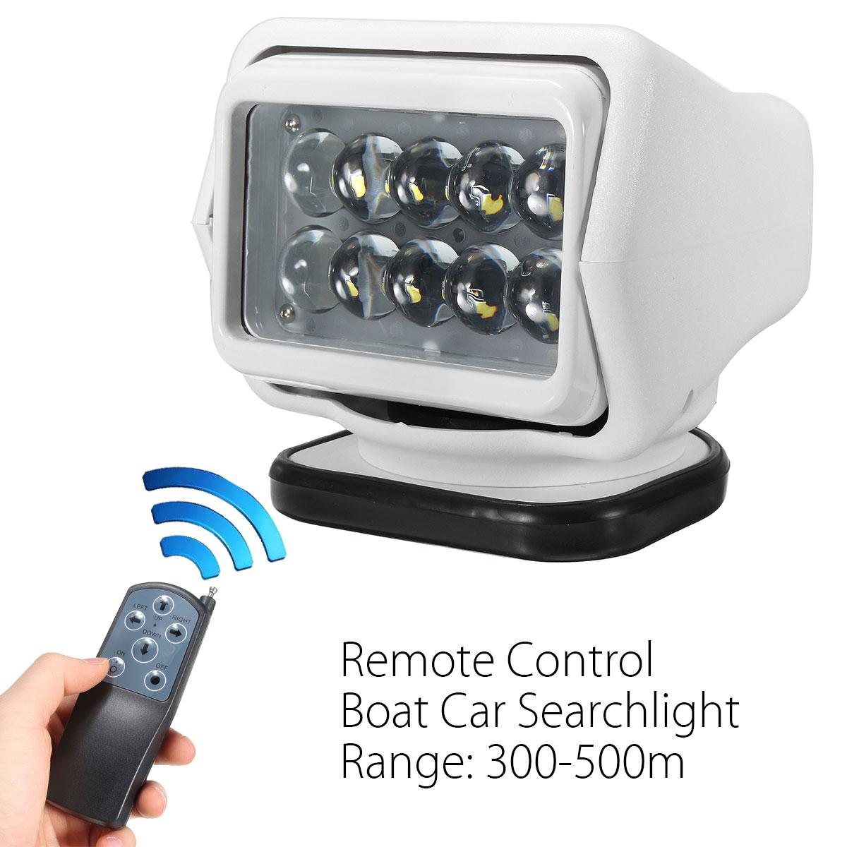 360 градусов пульт светодио дный дистанционного управления Светодиодный прожектор 50 Вт лодка автомобильная лампа прожектор беспроводной Ра