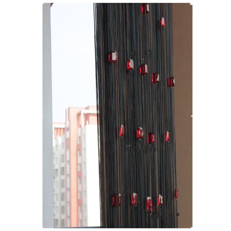 275 см плотная линия занавеска перегородка крыльцо фон занавеска оконная дверь делитель прозрачная занавеска подделка украшение для дома