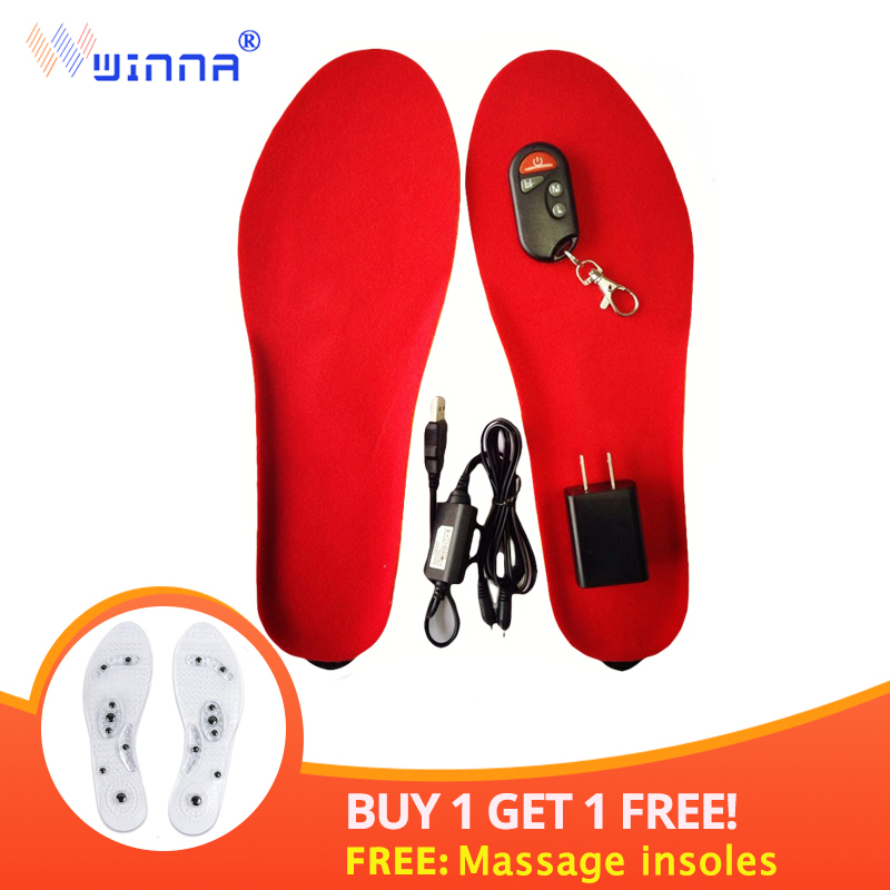 BEST GIFT NEW ARRIVAL warm Electric heated Insoles soles For women men Shoes boot Winter thick