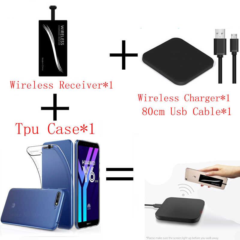 Sạc Không Dây Chuẩn Qi Cho Huawei Honor Quan Điểm 8 9 10 V8 V9 V10 Ốp Lưng TPU Cover Và Điện Di Động Ngân Hàng sạc Không Dây Miếng Lót Đầu Thu