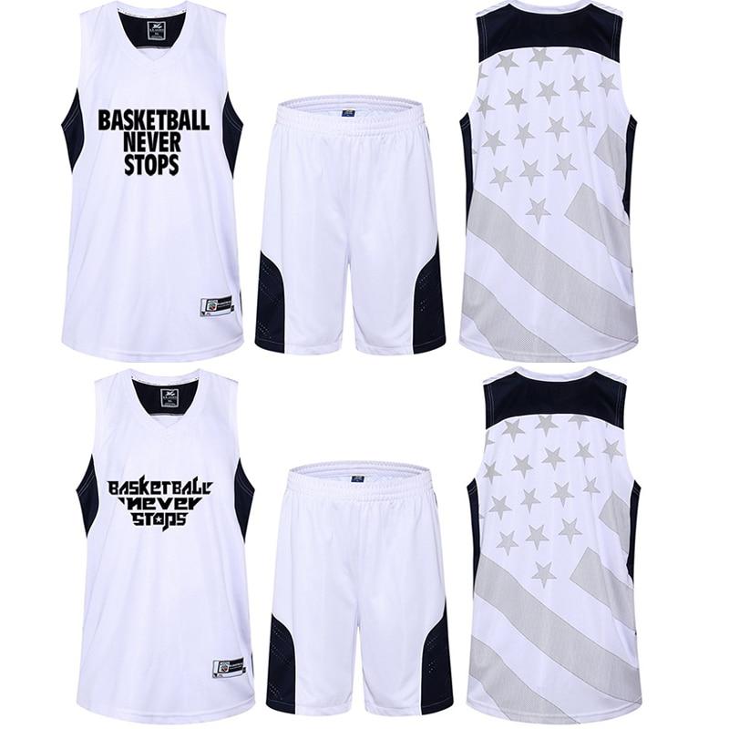 Newest Man Basketball Set Jersey With Short Custom Logo Quick Dry