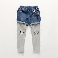 Girls Leggings 2017 Cute Cat Design Children Trousers Skinny Kids Leggings For Girls Pants Spring Autumn