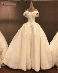 Новое поступление уникальный бретели для нижнего белья роскошное бальное платье Настоящее Аманда Novias Свадебное платье vestido de noiva 2019