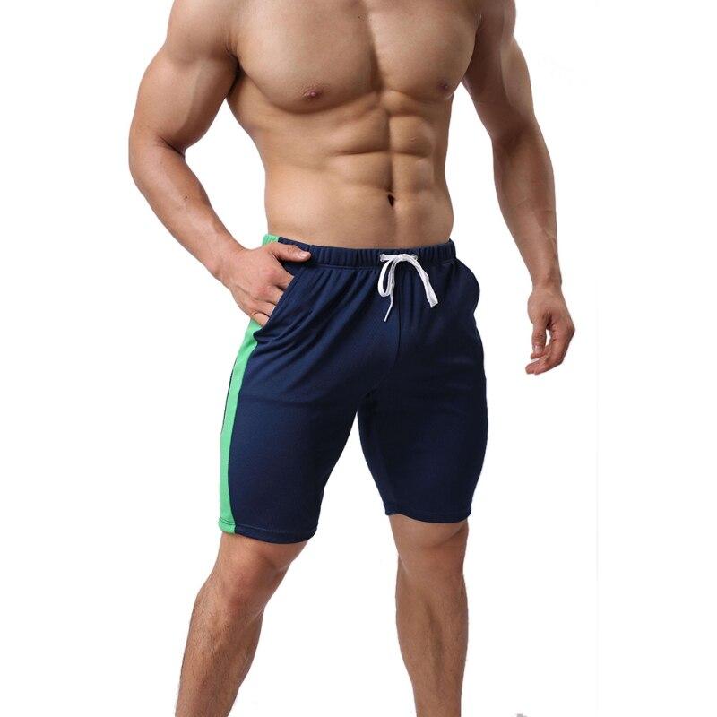 Лето Горячие Для мужчин Пляжные шорты быстросохнущая лоскутное Повседневное обшитые мужские шорты; Модный шнурок Короткие брюки новый