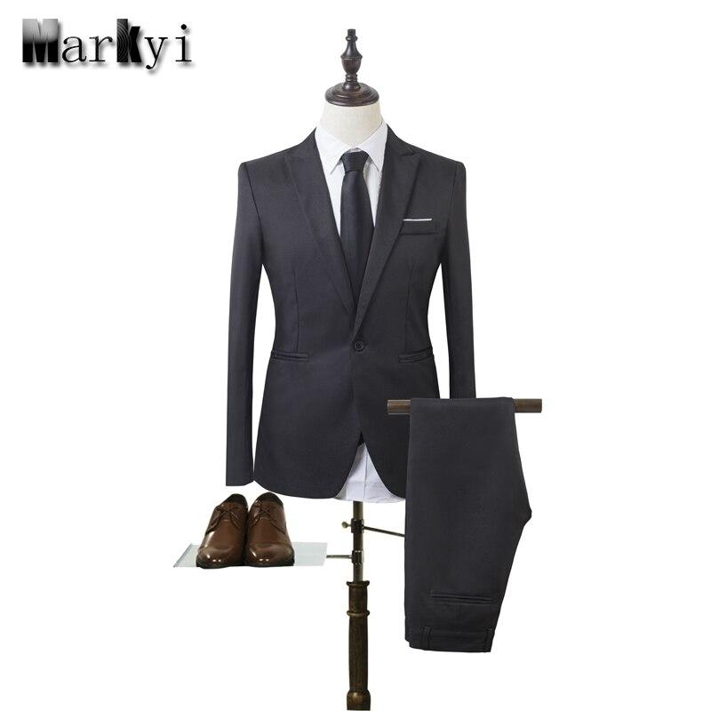 MarKyi 2017 mode mens hochzeit anzüge plus größe 3xl sänger taste billige anzüge für männer slim fit herren smoking (jacke + hose)