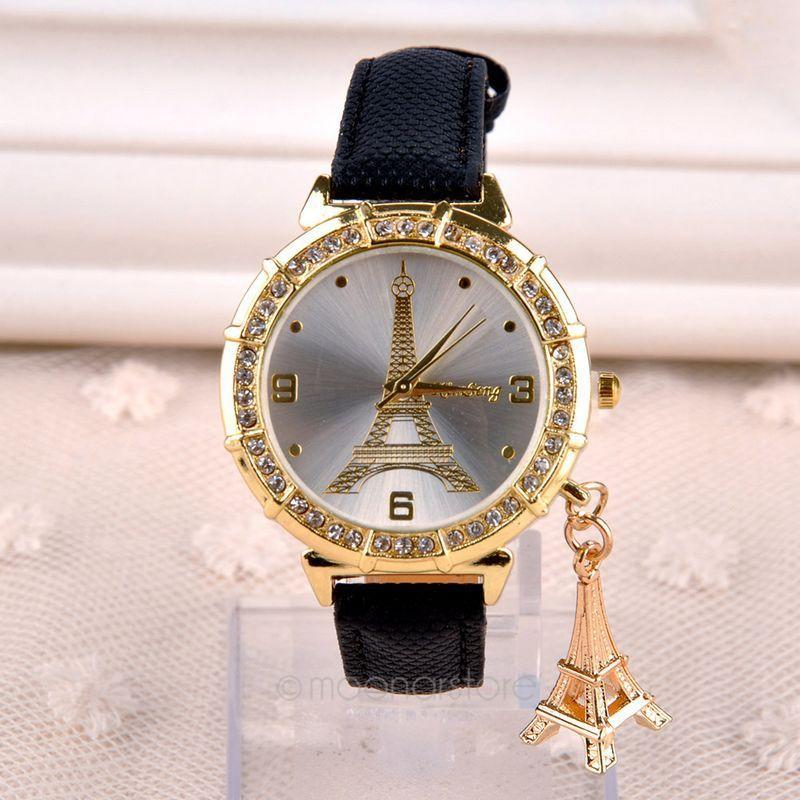 e36c7ad2de1 New Fashion   Casual Relógio de Luxo Relógios relógio feminino Torre Eiffel  Vestir Relógios de Quartzo de Couro Das Mulheres em de no AliExpress.com ...