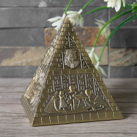 3pcs/set Europe Egyptian Pyramid vintage jewelry box jewelry large capacity storage box metal jewelry box organizer Z084