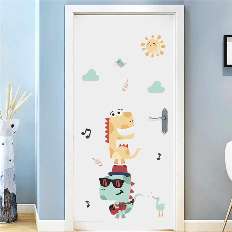 3d Динозавр наклейки на стену для детской комнаты спальня украшения дома Юрского периода Животные; Настенная роспись Diy сафари Наклейка ПВХ плакат