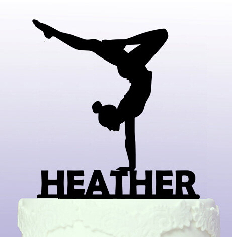Acrylic Elegant Gymnastics Wedding Birthday Cake Toppers Bridal Baby Shower Bachelor Party Theme Decorations