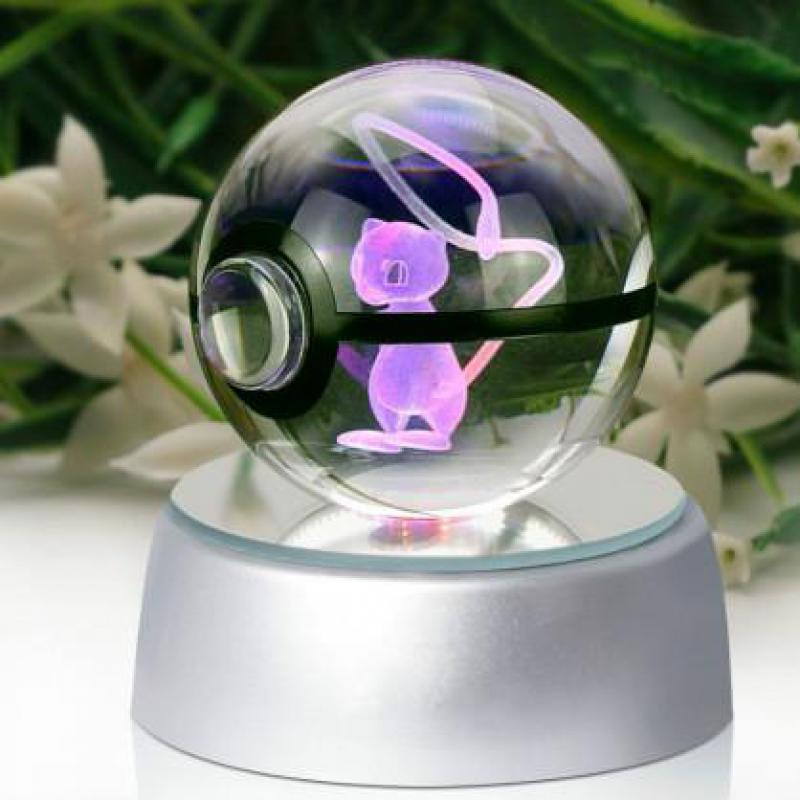 Geng Ghost Elves Diameter 5cm Glass Desk Table Lamp Pokemon Go Pocket Monster Mewtwo 3d Led Night Light Power Bank 3d Lamp майка print bar mewtwo pokemon