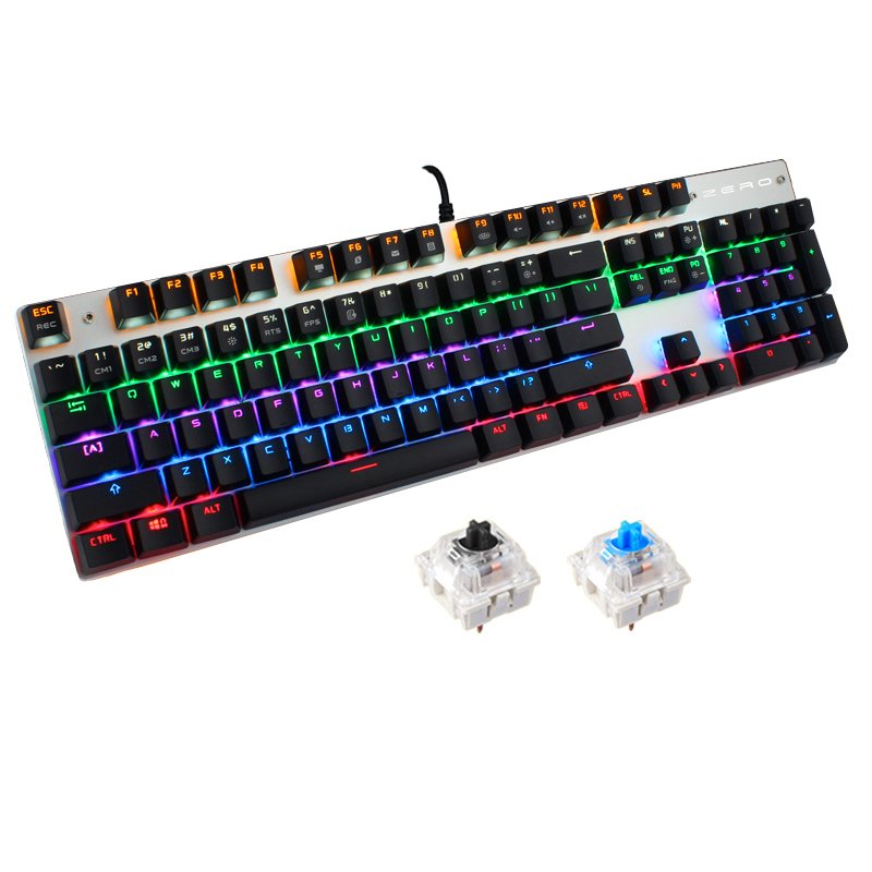 Russian and English Version Tri-color LED Backlight Flyingcolors Mechanical Touch Gaming Advanced Game Keyboard El Teclado Gamer