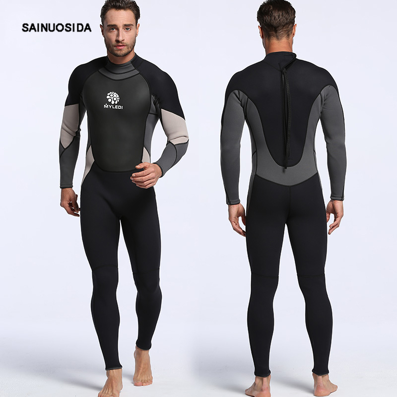 2017 Neoprene Men Scuba Diving Suit 3MM  Wetsuit Anti-Jellyfish Snorkeling Kite Surfing Spearfishing Swimwear   MY028 men s winter warm swimwear rashguard male camouflage one piece swimsuit 3mm neoprene wetsuit man snorkeling diving suit
