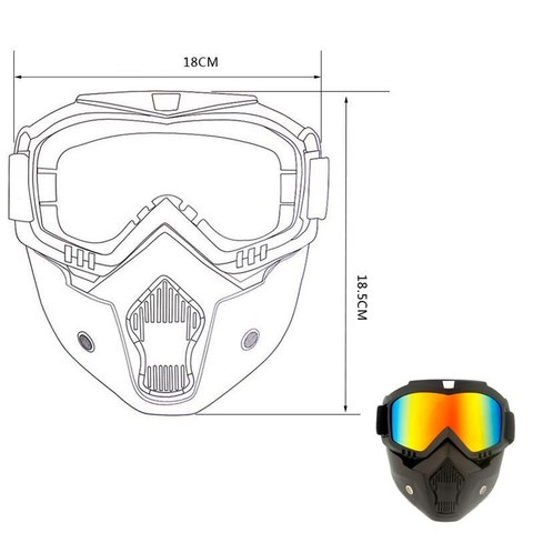 Queshark Ski Snowboard Mask Winter Ski Snowmobile Goggles Windproof Skiing Glasses Cycling Sunglasses With Mouth Filter Islamabad