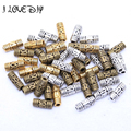 50Pcs Antique Column Tube Bronze Silver Gold Spacer Beads Fit European Charms Bracelets Jewelry Diy Findings 8x3mm