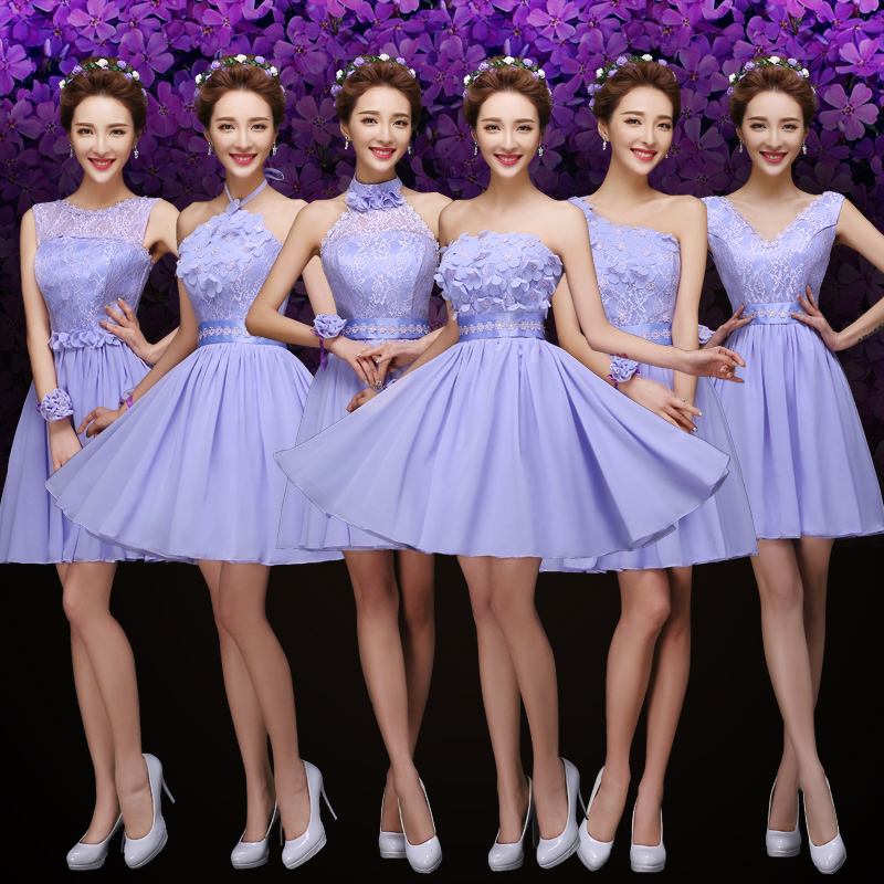 Buy bridesmaid dresses short purple and get free shipping on ...