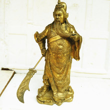 knife bronze statue of Guan Gong Wu God of wealth lucky home decoration decoration craft gift opening Home Furnishing