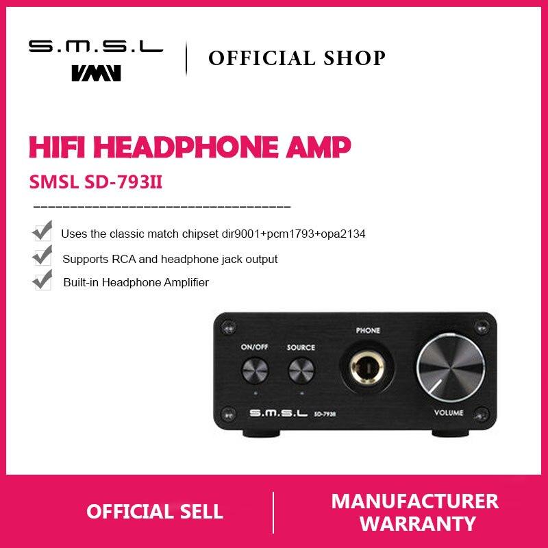 SMSL SD-793 II Audio Optical Coaxial DAC PCM1793 DIR9001 DAC Digital Audio Decoder 24BIT 96KHZ Built-in Headphone Amplifier SMSL SD-793 II Audio Optical Coaxial DAC PCM1793 DIR9001 DAC Digital Audio Decoder 24BIT 96KHZ Built-in Headphone Amplifier