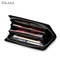 Falanmule Genuine Leather Vintage Man Wallet Leather With Coin Pocket Small Purse Dollar Price