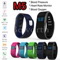 10PCS Blood Pressure Blood Oxygen Smartband Heart Rate Monitor M5 Bluetooth Smart Band Bracelet Watch Wristband for iPhone HTC