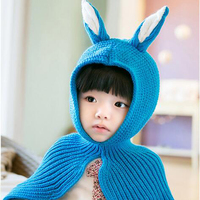 Best Selling Lovely Rabbit Pattern Baby Girls Hats Cloak 5 Color Cute Kids Clothes Accessories Fashionable
