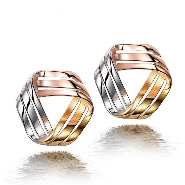 2015 Novo 925 prata esterlina jóias brincos do parafuso prisioneiro brincos de prata feminino Coreano 3 cores Frete Grátis