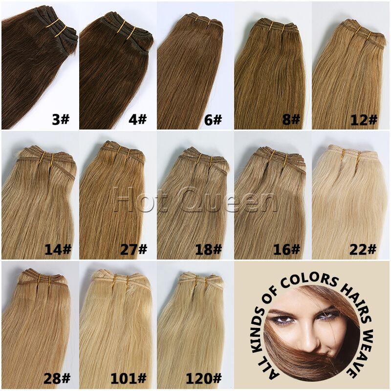 Hot Queen 6a Brazilian Human Hair Weaves Mixed Color 22 Inch Human