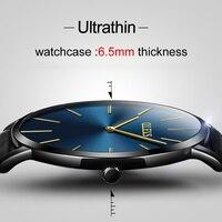 OLEVS Brand Men Quartz Watches Fashion Casual Ultra Thin Wristwatches 30M Waterproof Simple Black Watch Luxury