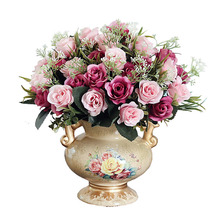Simulation Of Dry Room Furnishings Home Furnishing European Bouquet Pot Decor  Decoration Indoor Dining Table Plastic