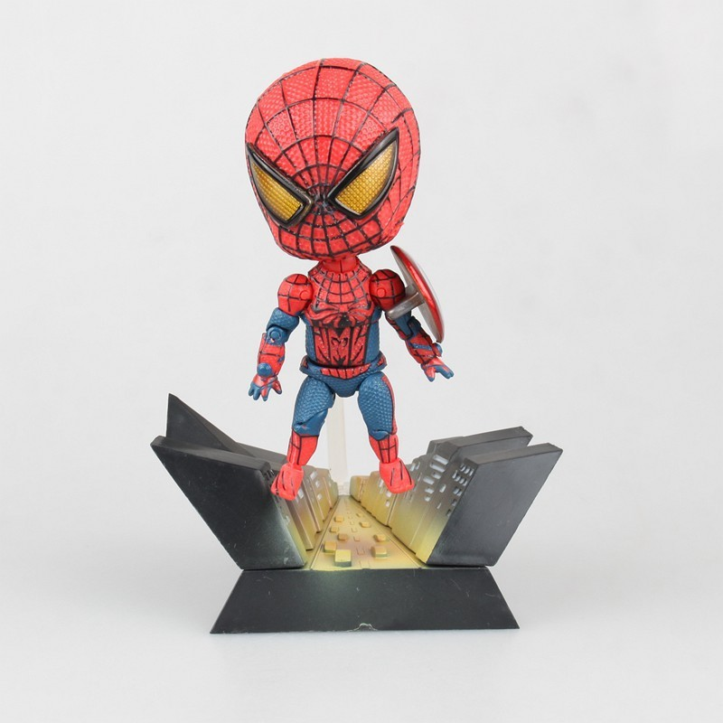 NEW hot 11 cm Avengers Spider-Man Homecoming giocattoli Action figure Spiderman doll regalo Di Natale