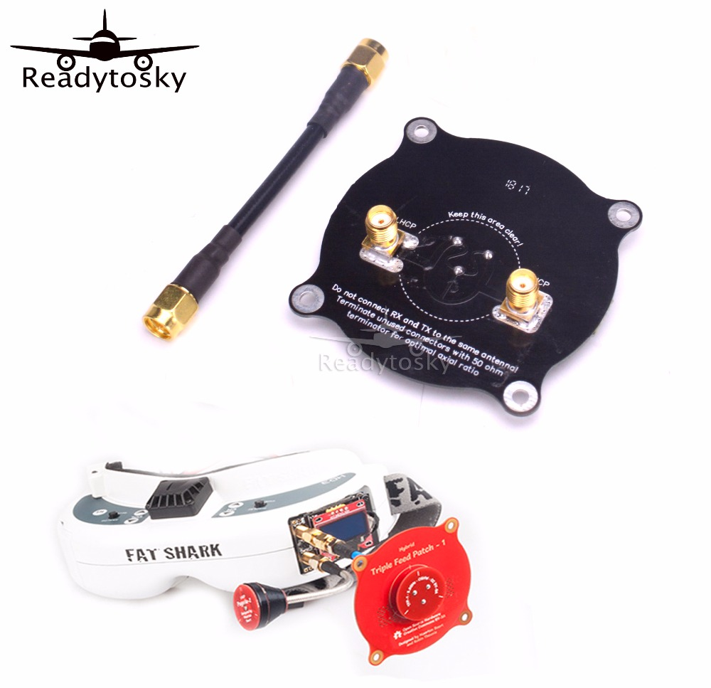 NEW 5.8GHz Triple Feed Patch Antenna SMA / RP SMA Directional Circularly Polarized Antenna For FPV Fatshark Goggles RC Drone