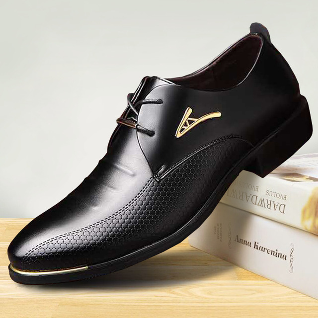 luxury Brand Classic Man Pointed Toe Dress Shoes Mens Patent Leather Black  Wedding Shoes Oxford Formal Shoes Big Size fashion 645703392f5c