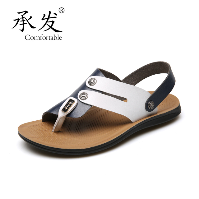 5a1abb454caf16 CHENGFA Brand 2017 Summer Beach Shoes Sandals Designers Men Sandals Brand Leather  Slippers For Men Zapatos Sandalias Hombre