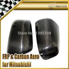 Эпр стайлинга автомобилей для mitsubishi evolution evo 10 x углеродного волокна боковая крышка зеркало 2 шт.
