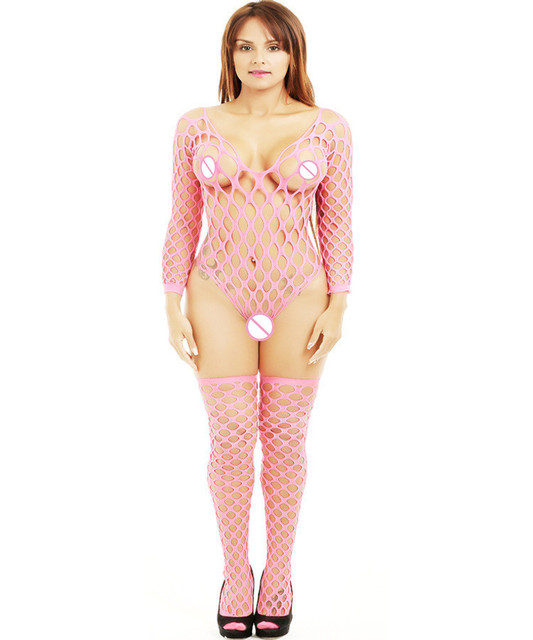 Sexy Lingerie Hot Bodystocking Plus Size Erotic Underwear Lenceria Erotica Mujer Sexi Fishnet Stokcings Bodysuits Negligee QQ186