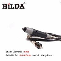 HILDA Flexible Shaft 6mm 110cm With 6pcs Chuck Fits Hilda 400W Dremel Rotary Tool Dremel Tools