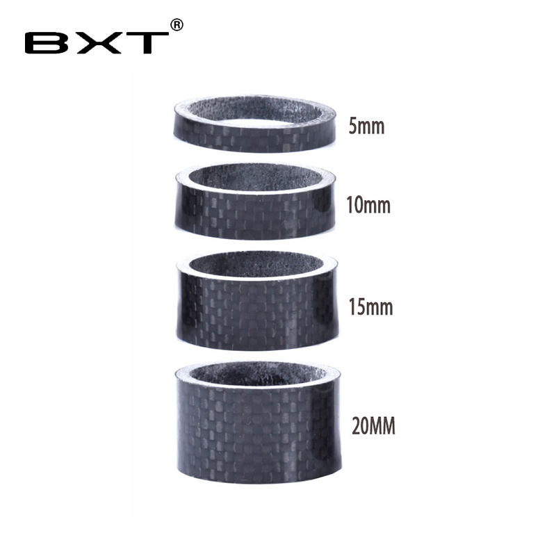 """1 1/8"""" Full Carbon Fibre 3k glossy Spacer Headset Fork Washer 5mm 10mm 15mm 20mm 4pcs/set bicycle parts(China)"""