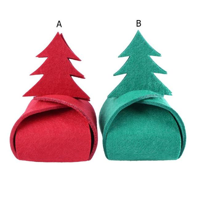 christmas tree style felt gift box candy box sugar cookie package box christmas decorations for home