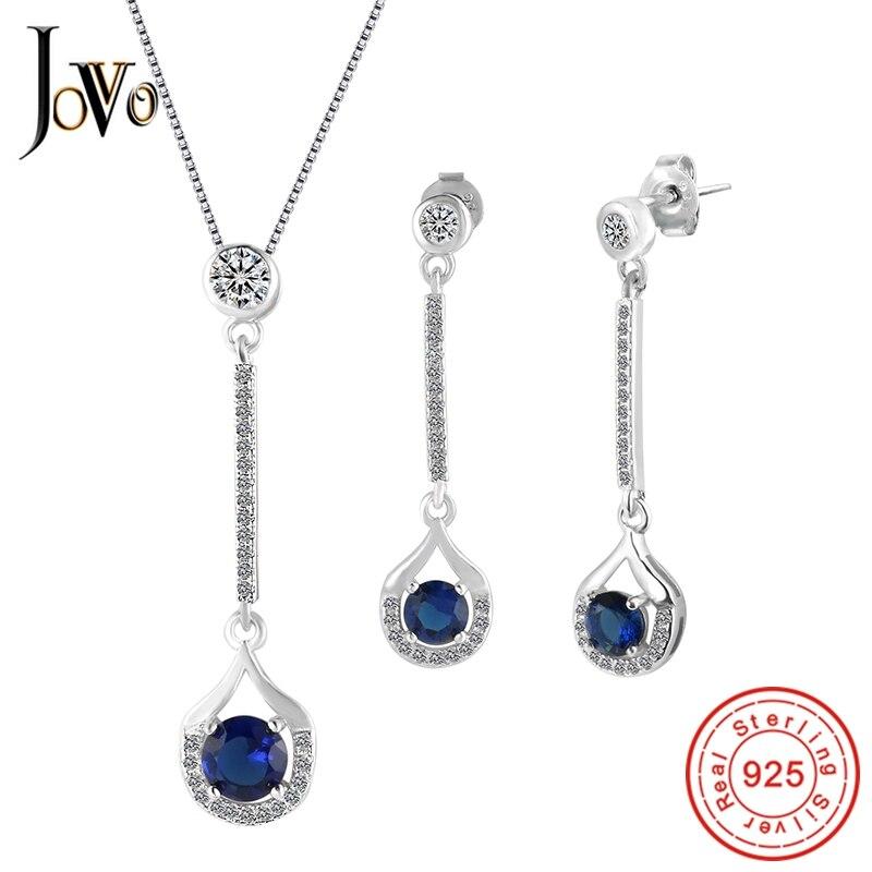 JOVO Վզնոց և Ականջօղեր Զարդեր հավաքածու - Նուրբ զարդեր - Լուսանկար 1