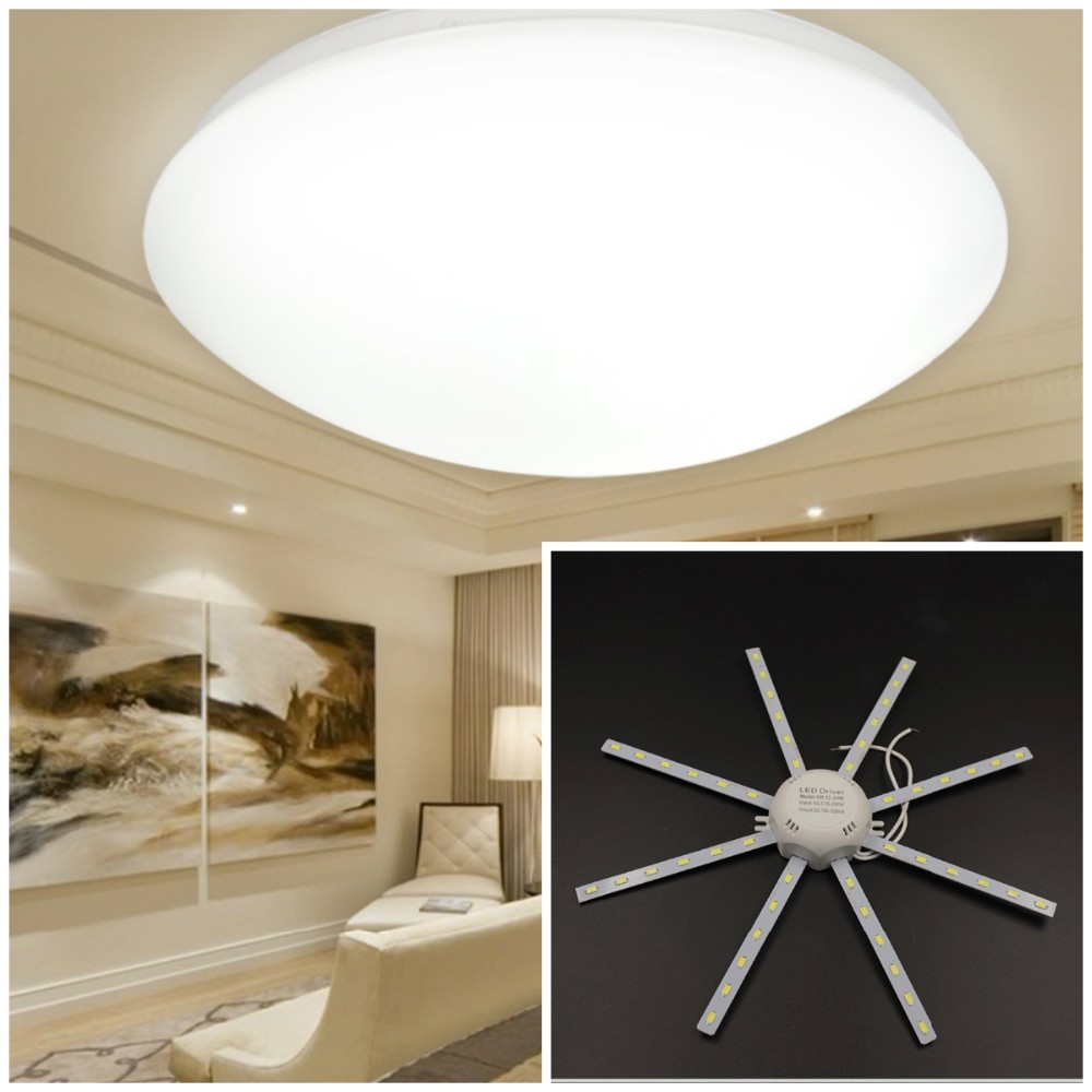 5730 SMD Cool Warm White for Round font b Kitchen b font Bedroom 12W 16W 20W