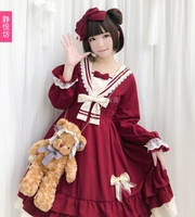 New autumn women's cute daily Lolita dress long sleeved dress Lolita Loli Japanese sweet dress