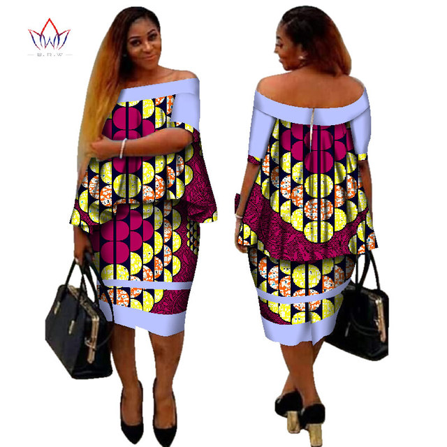c73ff5ae641 African Dashiki Print Women Clothing Two Pieces Tops and Body Corn Dress  New Design 2017 Fashion Plus Size BintaRealWax WY2400