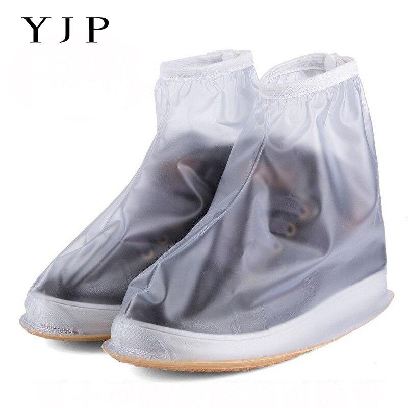 YJP Lluvia Impermeable Reutilizable Cubiertas de Zapatos, todas las Estaciones de Cremallera antideslizantes Chanclos Botas de Lluvia, hombres y Zapatos de Mujer Accesorios